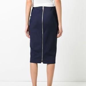 Victoria Beckham Pinstripe Pencil Skirt -6